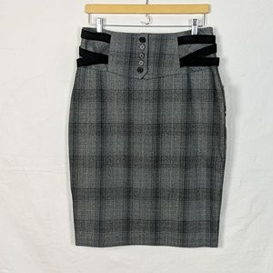 NWT Worthington Great Plaid Pencil Skirt